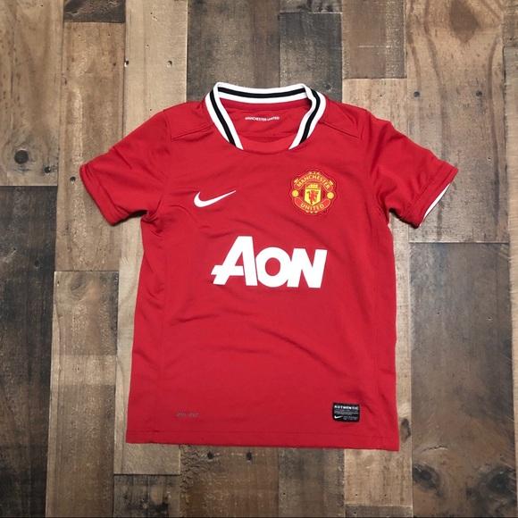 half off d15c4 9906d Nike Manchester United MANU AON Soccer Jersey